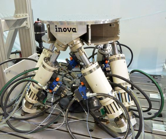 Hexapode Test Rig manufactured by Inova